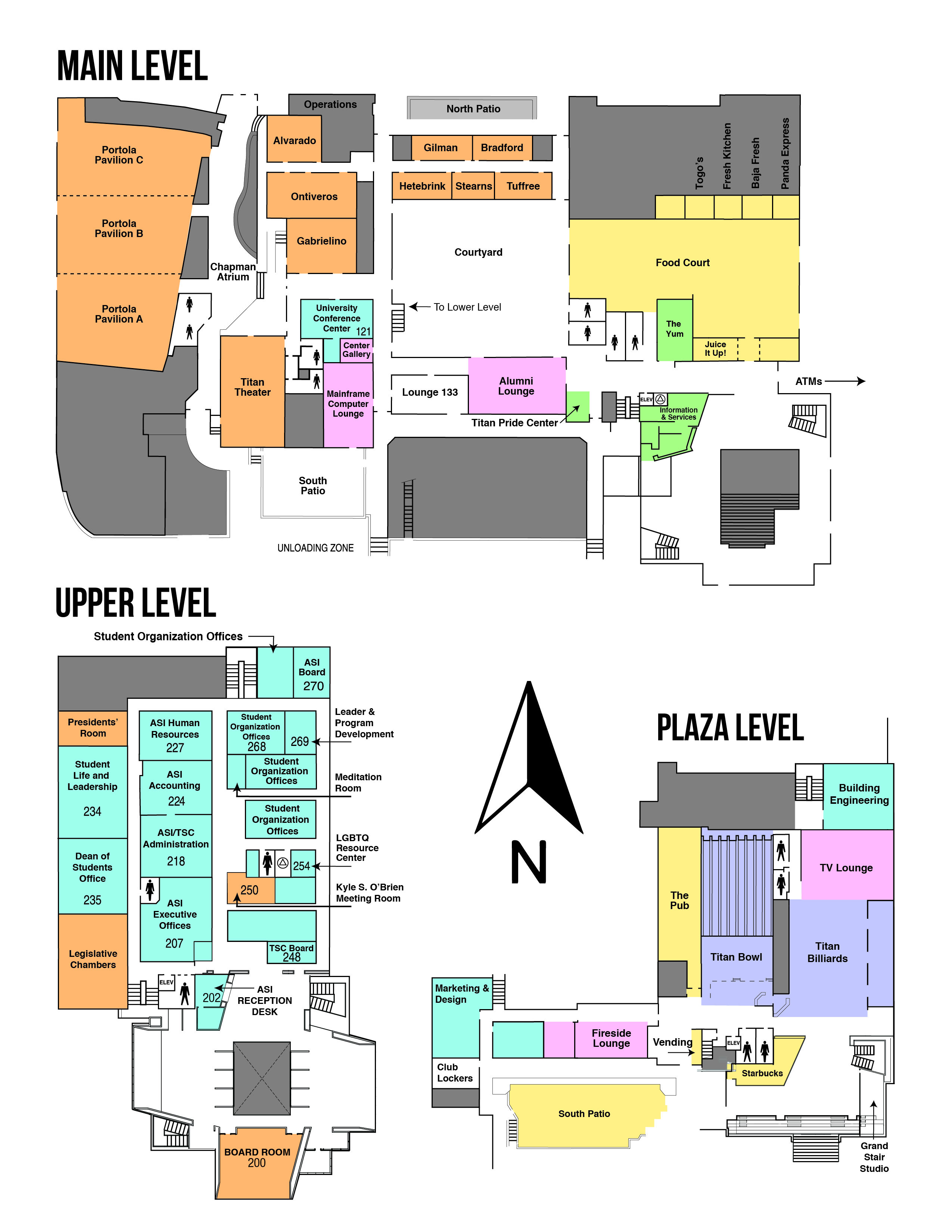 Map of the Titan Student Union