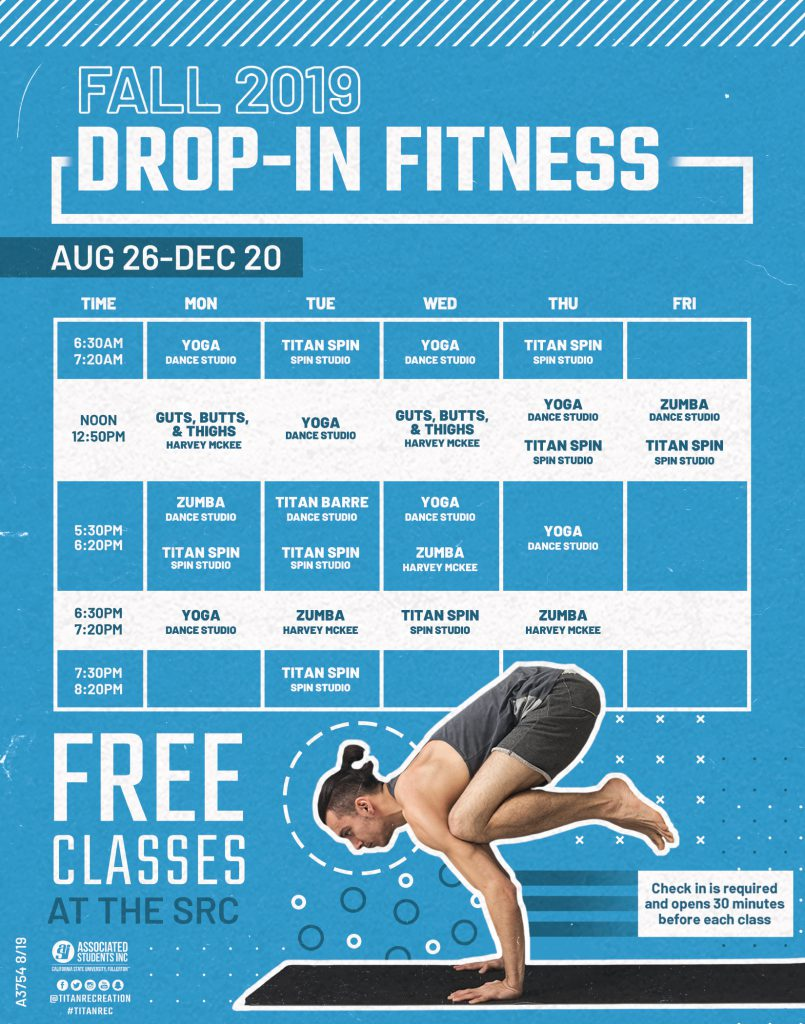 Fall 2019 Drop in Fitness Schedule