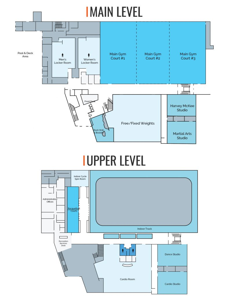 Student Recreation Center Map
