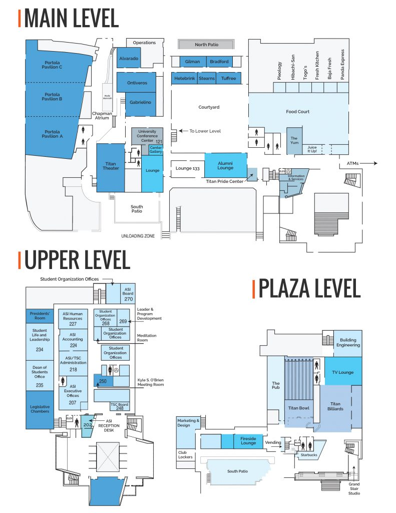 Titan Student Union Map Dec18
