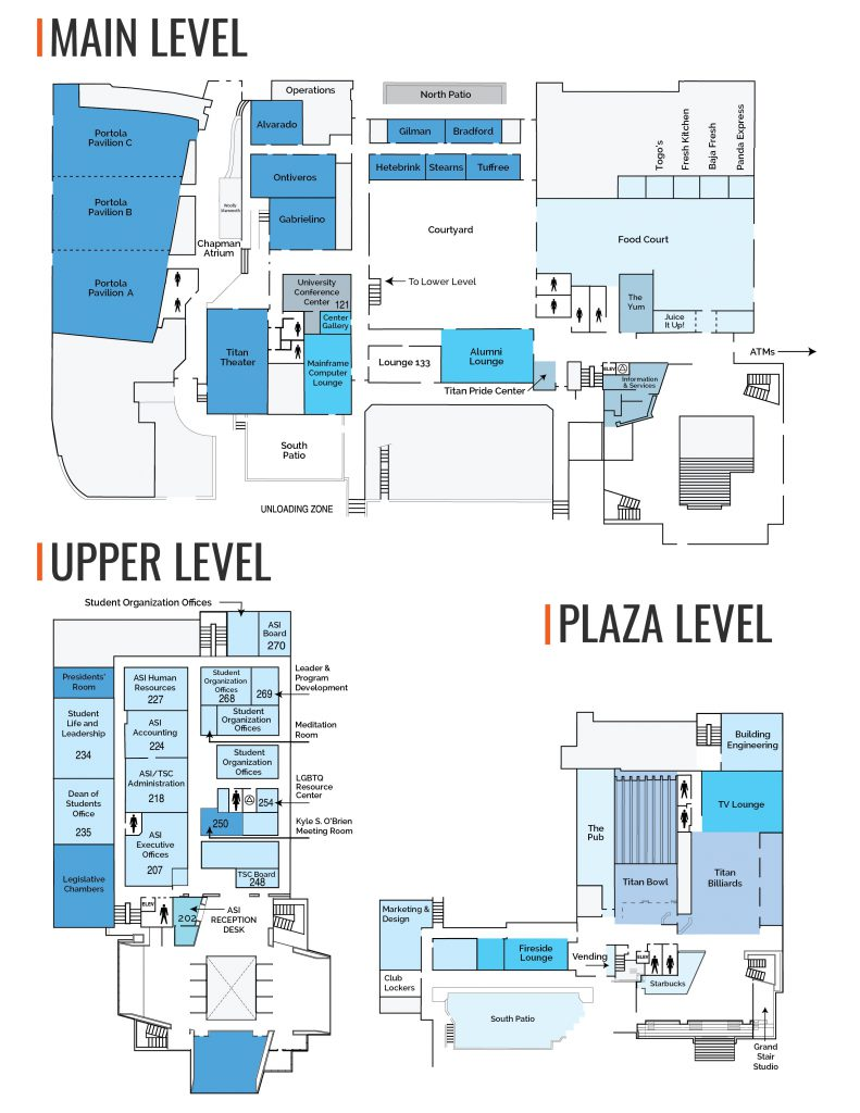 Titan Student Union Map